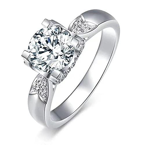 Anillo de plata de ley para mujer, anillo de compromiso para hombre con cristales hechos a mano, anillos ajustables