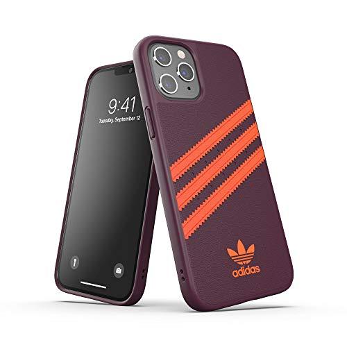 adidas Funda diseñada para iPhone 12 Pro MAX 6.7, Fundas a Prueba de caídas, Bordes elevados, Carcasa Original Moldeada, Color castaño y Naranja
