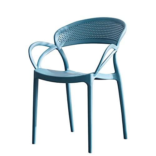 Himmelblau Gartenstuhl Aus Kunststoff  Set 4 Gartenstühle Stapelbar   Bistrostuhl, Wasserabweisender, UV-beständiger...