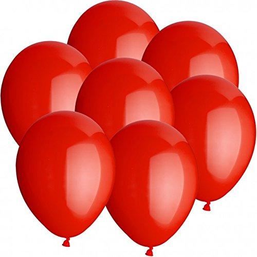 50 Luftballons Ø 25 cm Farbe frei wählbar Ballons Helium Luftballon (Rot)