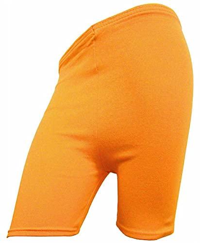 StyleWear - Leggings da donna, lunghezza 1/2, pantaloncini da ciclismo, sportivi, casual, yoga, corsa, danza, Arancione, 48-50