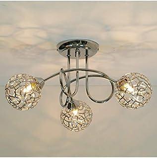 KOSILUM - Plafonnier design 3 boules Aphyse - Lumière Blanc Chaud Eclairage Salon Chambre Cuisine Couloir - 3 x 25W - - G9...