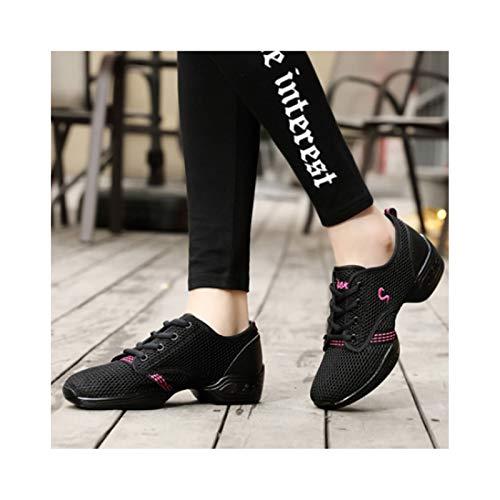 HaoLin Zapatos de Baile de Jazz, Zapatos de Jazz Zapatos de Baile Modernos de Jazz Zapatos Cómodos de Suela Partida de Jazz Práctica para Adultos,OneColor-41 EU