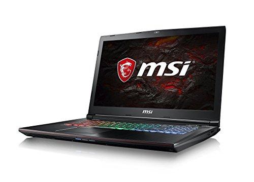 MSI GE72MVR 7RG-009DE Apache Pro (43,94cm/17,3 Zoll/120Hz) Gaming-Laptop (Intel Core i7-7700HQ Kabylake, 16GB RAM, 256GB SSD + 1TB HDD, Nvidia GeForce GTX1070, Windows 10) schwarz GE72