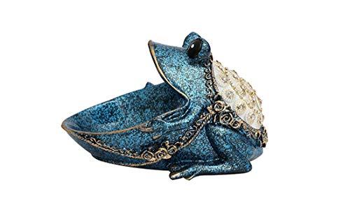 BaiXing Große Mund Frosch aufbewahrungsbox Hause licht kreative schlüssel aufbewahrungsbox Veranda eingangstür Schuh schlüssel Key schutt Finishing Box praktische Dekorationen (Color : Blue)
