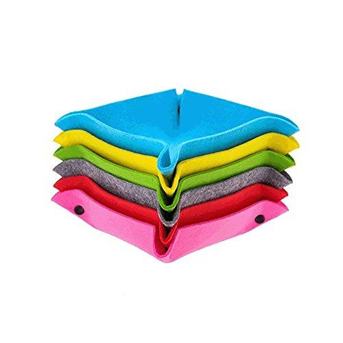 Super1798 - Caja de almacenamiento de fieltro plegable para el hogar, oficina, color al azar