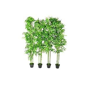 vidaXL 4X Bamboo Artificial Home Decor 75″ Arrangement Office Fake Tree Potted