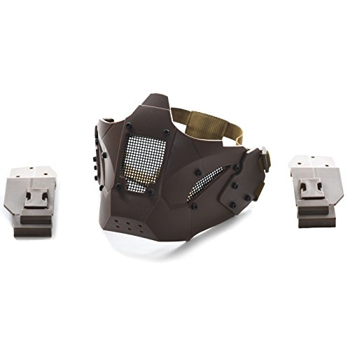 Militar-TLD Mascara Militar táctico de Airsoft Paintball Casco Protector Mascara JAY TAN...