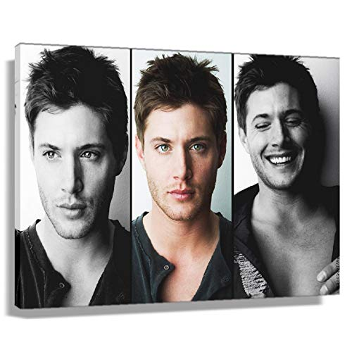 Jensen Ackles Poster Living Room Decorative Paintings Rectangular Pictures Art for Home Painting Prints Wall Artwork for Teen Bedroom Pictures for Kitchen Christmas Decorations Modern Canvas Pics (36*24inch,Unframed)