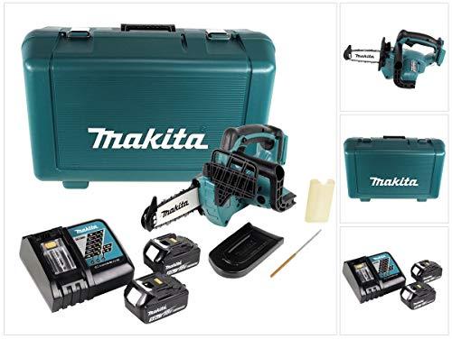 Makita DUC122RTE Top Handle Akku-Kettensäge 18V / 5,0Ah, 2 Akkus + Ladegrät im Transportkoffer, 1 W, 18 V, Schwarz, Blau