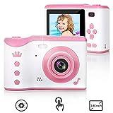 LTPAG Macchina Fotografica per Bambini Fotocamera Digitale Portatile Selfie 2,8 Pollici LCD 18MP Mini Videocamera per Bambine Giocattolo / Regalo per 3-12 Anni Ragazzo Ragazza