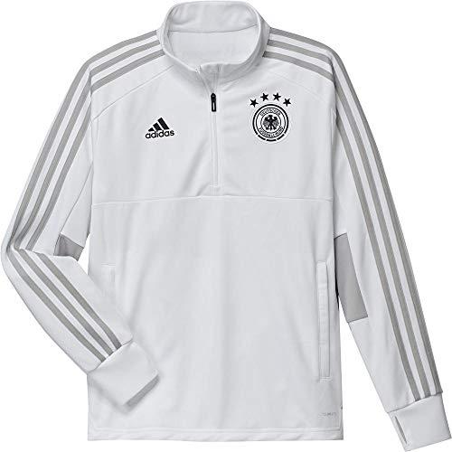 adidas Selección Alemana de Fútbol Sudadera de Entrenamiento, Unisex niños, Blanco (Gridos / Negro), 128-7/8 años