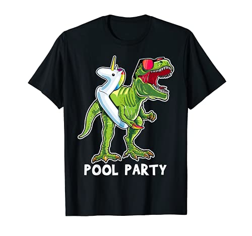 プールパーティー T レックス 恐竜 ユニコーン フロートシャツ Tシャツ レックス ギフト Tシャツ