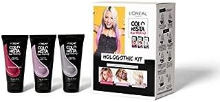 L'Oreal Paris Hair Color Colorista Hair Makeup 1-Day Hair Color Hologothic Kit, Multi