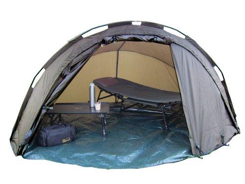 MK-Angelsport 5 Seasons Dome Deluxe 1.5 Mann Zelt Karpfenzelt 10.000mm, incl. Gummihammer