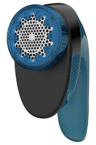 Rowenta Portable Lint Remover Shaver with Adjustable Shave Height, Fabric Defuzzer, Travel-Sized, Blue