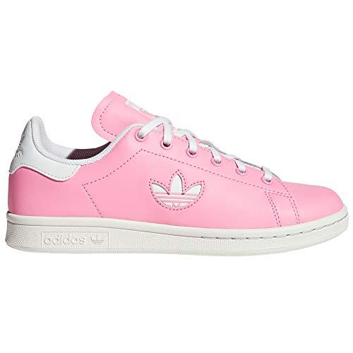 adidas Stan Smith Schuhe Damen. Low-Top, Trainer, Sneaker.Ms (38.5 EU, Rosa/Bianco)