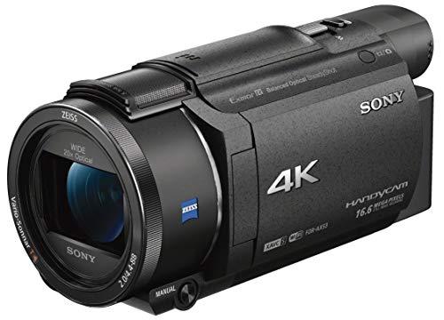 Sony FDR-AX53 Videocamera 4K Ultra HD con Sensore CMOS Exmor R, Ottica Grandangolare Zeiss 26.8 mm, Zoom Ottico 20x, Stabilizzazione Attiva a 5 Assi, Nero
