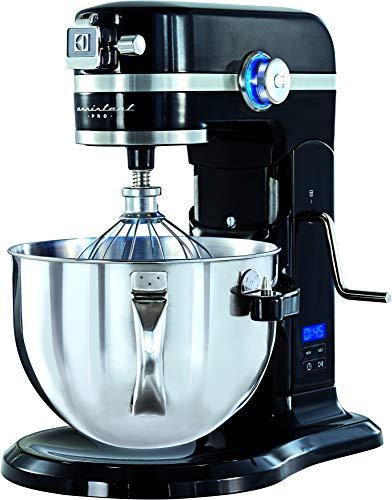 Electrolux AssistentPRO Köksassistent, Modell EKM6000, Ballongvisp, Stänkskydd, Timer, 1200 W, 5,7 Liter Skål, Svart
