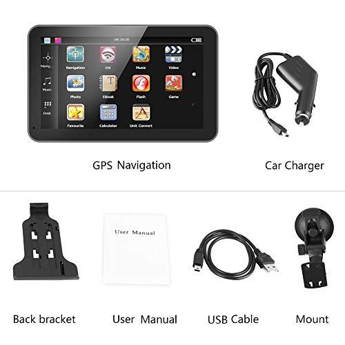 Auto GPS Navigator, 7 Zoll Touchscreen Tragbares Auto Navigator GPS Navigation...