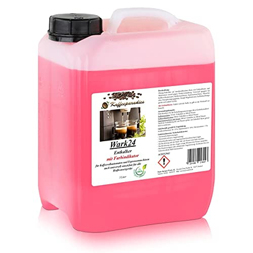 Wark24 Flüssig Entkalker 5 Liter für Kaffeevollautomaten, Kaffeemaschinen, Wasserkocher - Kalklöser geeignet für Bosch, Siemens, Miele, Jura, Krups, Philips, Saeco, WMF, Delonghi uvm. (1er Pack)