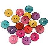 Sadingo, bottoni in legno, 25 mm, bottoni per cucito, grandi bottoni colorati in legno, bottoni per bambini