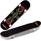 ZZTHJSM Skateboard Professionale, Skateboard Adulto, Legno d'Acero Unisex Tavola Skate, per Sport Estremi E All'aperto, Principianti, Miglior Regalo