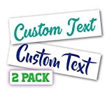 Two Pack Custom Decal Text Name Sticker Compatible with Yeti Tumbler Cup, Laptop, Phones, Boats, Helmets, Bottles, Cars and Vehicles (Glitter Colors Available)
