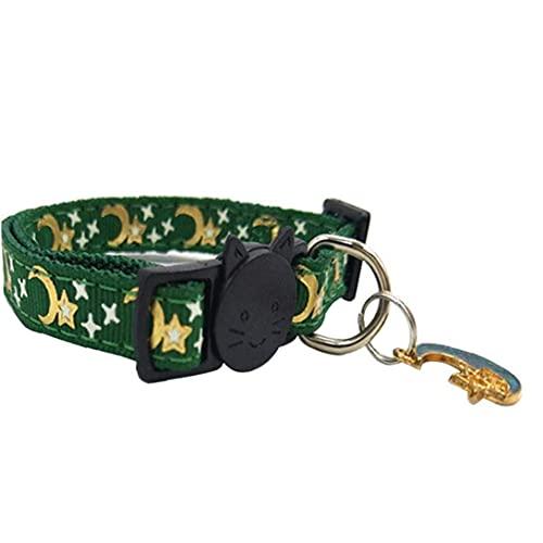 W-bgymj Cuello de Gato Cuello Ajustable Cuello de Gatito Suministros para Mascotas Accesorios para Gatos para Pet Pet Pet Light Rojo (Color : Green)
