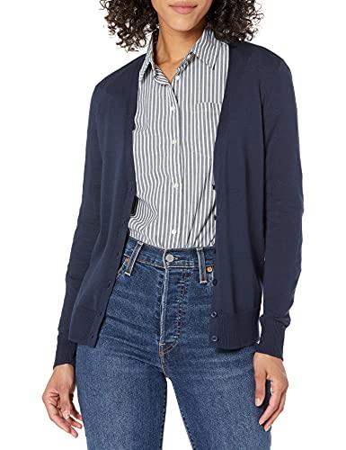 Amazon Essentials Women's Lightweight Vee Cardigan, Navy, X-Small