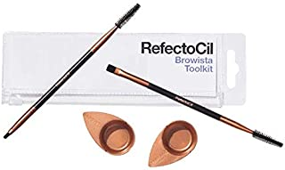 RefectoCil Browista Toolkit - 2 Dual Brushes & 2 Application Dishes - For Lash & Brow Profesionals - Ideal for Precise Tin...