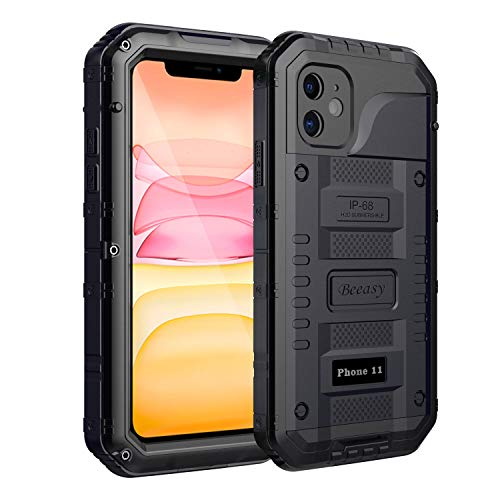 Beeasy Case Compatible with iPhone 11 Black, Waterproof Shockproof Tough...