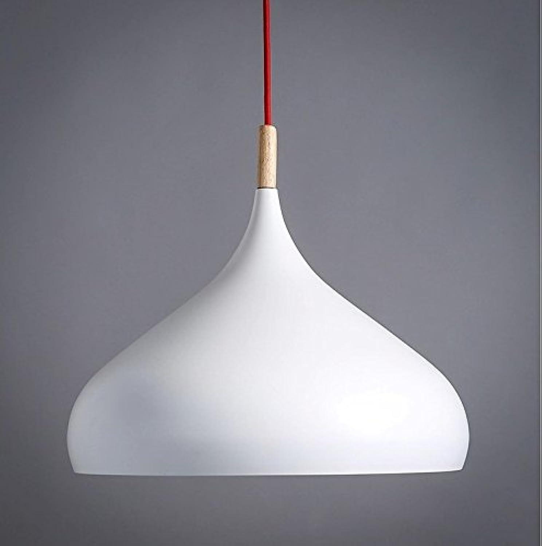 Moderne minimalistische Horn Kronleuchter kreative Retro-Holzstbe Restaurants Cafe Restaurants Aluminium Single-Kopf Anhnger,Senden Sie schwarz 30CM LED-Lichtquelle