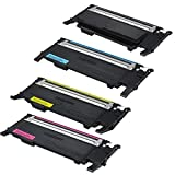 TonerBoss SAMCL407S4 Remanufactured Samsung 407 Toner Cartridges for CLP-320,CLP-325, CLP-326, CLX-3180, CLX-3185 (Pack of 4)