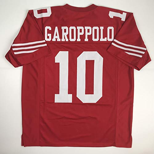 Unsigned Jimmy Garoppolo San Francisco Red Custom Stitched Football Jersey Size Men's XL New No Brands/Logos