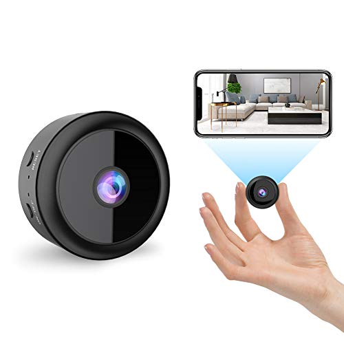 RIRGI Koiteck Cámaras espía Oculta, Cámaras Espía WiFi 1080P HD, con IR Visión Nocturna Detector de Movimiento, Grabadora de Video, Camaras de Seguridad Pequeña para Interior/Exterior(Negro)