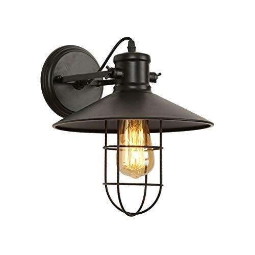 Lámpara Pared Lámpara de estilo antiguo pared, lámpara de pared de estilo industrial, antigua titular de la lámpara de metal cubierta, la lámpara industrial pared de la jaula por cable, retro antigua