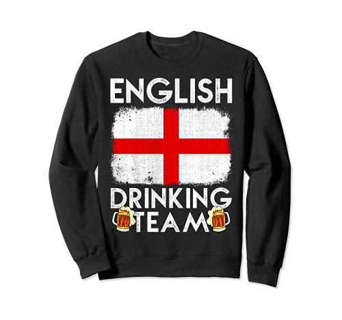 Equipo de Bebida Inglés Diseño Inglaterra Beber Equipo Sudadera