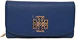Tory Burch Blue Leather For Women - Flap Wallets