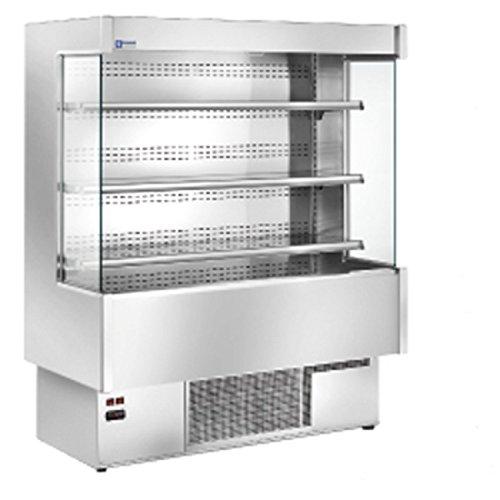Diamond – Vitrina refrigerada de pared faada 1200 mm-acero inoxidable – 4 niveles