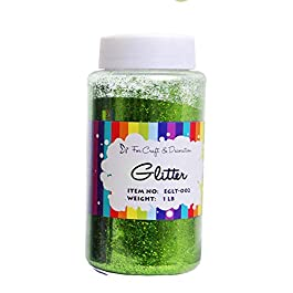 Craft and Party, 1 Pound Bottled Craft Glitter for Craft and Decoration (Apple Green)