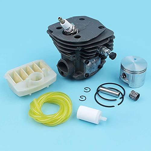 - Kit de pistón de cilindro de 45 mm, filtro de aire, válvula de descompresión, interruptor de apagado, compatible con Husqvarna 353351350346 XP 345340 Línea de combustible para motosierra Eficiente