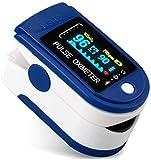 Pulsiossimetro da dito,sensore digitale di ossigeno nel sangue e pulsazioni, con allarme SPO2, per...