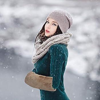 SwirlColor Manchon Fourrure Fausse, Conception de Poche de Sangle Chauffe-Mains Kaki Manchon en Fausse Fourrure pour Femme 1pcs, avec Crochet Transparent 1pcs