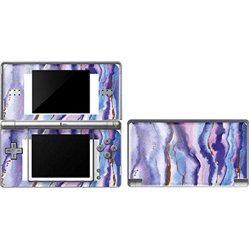 Skinit Decal Gaming Skin Compatible with DS Lite - Officially Licensed Originally Designed Blue Violet Watercolor Geode Design
