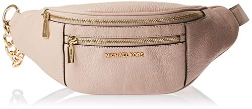 MICHAEL Michael Kors Mott - Riñonera de piel (tamaño mediano), color rosa