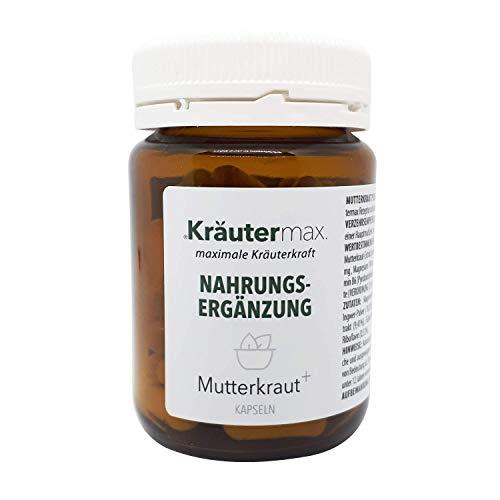 Kräutermax Mutterkraut Kapseln Hochdosiert 1 x 60 Stk. Extrakt mit Magnesium