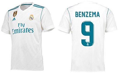 Real Madrid Trikot Herren 2017-2018 Home WC - Benzema 9 (S)
