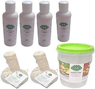 AR Herbals Kottamchukkadi Podi Kizhi Massage Potli 150Gm 2Pcs and Mahanarayan Pain Oil 60ML 4Pcs/ Helps In Pain and Inflam...