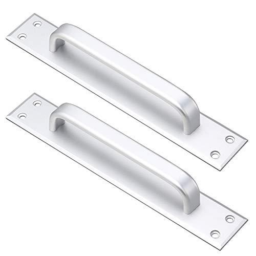 2 maniglie scorrevoli, maniglie per porta del granaio, maniglia in lega di alluminio, maniglia per porta del fuoco, per porte di casa, porte in legno, porte da balcone (distanza SilverHole 224 mm).